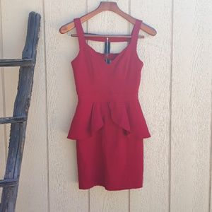 Paper Doll Dress Red Bodycon 80's Punk Cutout Back